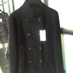 Cappotto nero lana elastica